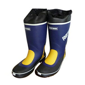 シンセイ 長靴 紳士艶消しカバー付 紺 L 25.5〜26.0cm