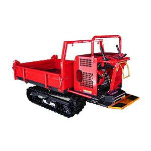 ウインブルヤマグチ クローラー運搬車 AM55X-1 【三方開閉式ドア】 【手動ダンプ】 【500kg積載】 【横ドア水平ロック】