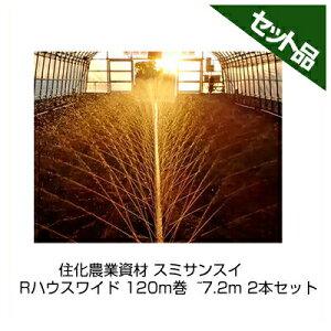 住化農業資材 スミサンスイ Rハウスワイド 120m巻 ~7.2m 2本セット 潅水チューブ 灌水チューブ