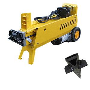 7トン 電動式油圧薪割機(薪割り機) クロスカッター付 WS7T 【メーカー直送】【油圧オイル充填済み】