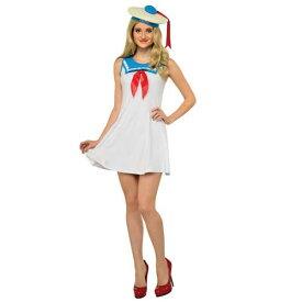 ハロウィン コスプレ マシュマロマンのイメージのフレアスカートのドレスセット 大人女性用 820129 n60909 cs0822gb0822