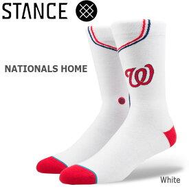 野球メジャーリーグ コラボ メンズ ソックス スタンス STANCE NATIONALS HOME 靴下 ベースボール スポーツ オシャレ stc-fair メール便配送 【50SP】
