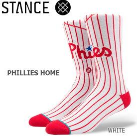 野球メジャーリーグ コラボ メンズ ソックス スタンス STANCE PHILLIES HOME 靴下 ベースボール スポーツ オシャレ stc-fair メール便配送 【50SP】
