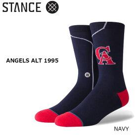 野球メジャーリーグ コラボ メンズ ソックス スタンス STANCE ANGELS ALT 1995 靴下 ベースボール スポーツ オシャレ stc-fair メール便配送 【50SP】