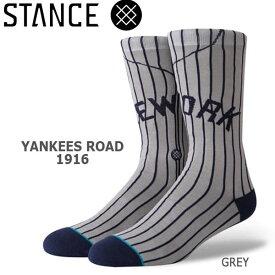 野球メジャーリーグ コラボ メンズ ソックス スタンス STANCE YANKEES ROAD 1916 靴下 ベースボール スポーツ オシャレ stc-fair メール便配送 【50SP】
