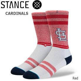 野球メジャーリーグ コラボ メンズ ソックス スタンス STANCE CARDINALS 靴下 ベースボール スポーツ オシャレ stc-fair メール便配送 【50SP】