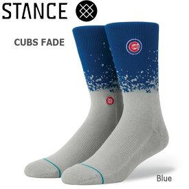 野球メジャーリーグ コラボ メンズ ソックス スタンス STANCE CUBS FADE 靴下 ベースボール スポーツ オシャレ stc-fair メール便配送 【50SP】