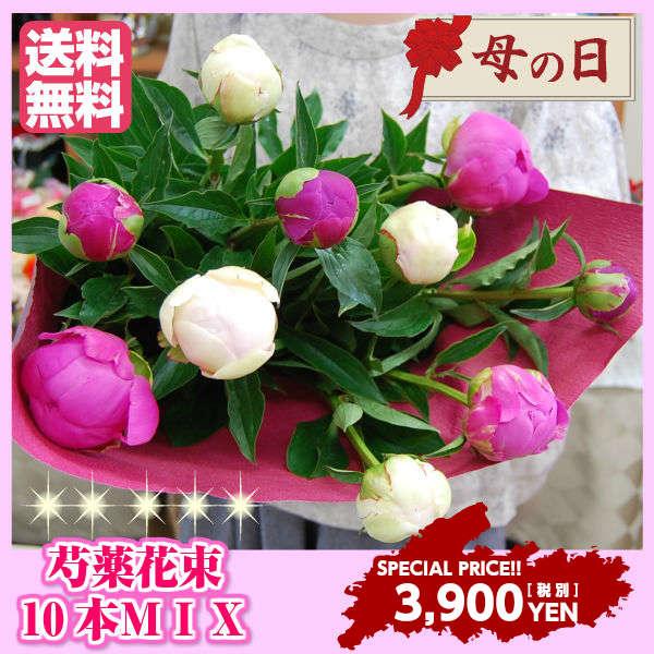 母の日 花 芍薬 花束 しゃくやくシャクヤク