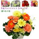 花 ギフト 「メルシー」 おまかせ 生花アレンジメントMサイズ