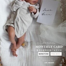月齢フォト マンスリーカード マンスリーフォト 月齢カード 誕生日 記念日 子どもの日 お祝い 出産祝い おしゃれ かわいい MONTHLY CARD AH-MART 【メール便送料無料】