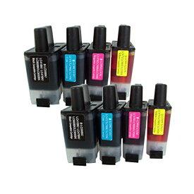 LC09-4PK ×2 / 4色セット brother (ブラザー) 互換インク 全色染料 【対応インク型番】 LC09BK LC09C LC09M LC09Y