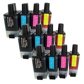 LC09-4PK ×3 / 4色セット brother (ブラザー) 互換インク 全色染料 【対応インク型番】 LC09BK LC09C LC09M LC09Y