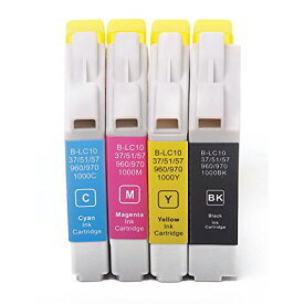 LC10-4PK ×1 / 4色セット brother (ブラザー) 互換インク 全色染料 【対応インク型番】 LC10BK LC10C LC10M LC10Y