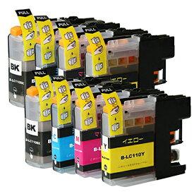 LC110-4PK ×2 / 4色セット brother (ブラザー) 互換インク BKのみ顔料他は染料 【対応インク型番】 LC110BK LC110C LC110M LC110Y