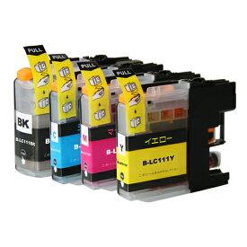 LC111-4PK ×1 / 4色セット brother (ブラザー) 互換インク BKのみ顔料他は染料 【対応インク型番】 LC111BK LC111C LC111M LC111Y
