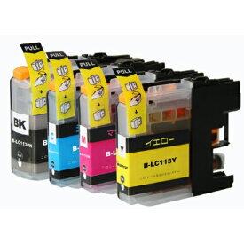 LC113-4PK ×1 / 4色セット brother (ブラザー) 互換インク 全色染料 【対応インク型番】 LC113BK LC113C LC113M LC113Y