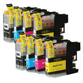 LC113-4PK ×2 / 4色セット brother (ブラザー) 互換インク 全色染料 【対応インク型番】 LC113BK LC113C LC113M LC113Y