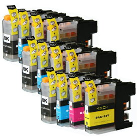 LC113-4PK ×3 / 4色セット brother (ブラザー) 互換インク 全色染料 【対応インク型番】 LC113BK LC113C LC113M LC113Y