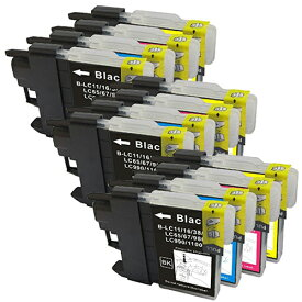 LC11-4PK ×3 / 4色セット brother (ブラザー) 互換インク BKのみ顔料他は染料 【対応インク型番】 LC11BK LC11C LC11M LC11Y