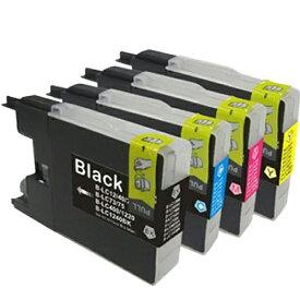 LC12-4PK ×1 / 4色セット brother (ブラザー) 互換インク BKのみ顔料他は染料 【対応インク型番】 LC12BK LC12C LC12M LC12Y