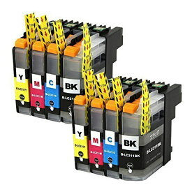 LC211-4PK ×2 / 4色セット brother (ブラザー) 互換インク BKのみ顔料他は染料 【対応インク型番】 LC211BK LC211C LC211M LC211Y