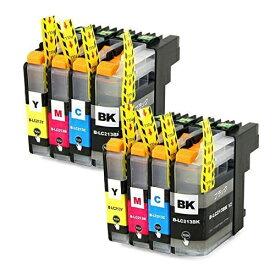 LC213-4PK ×2 / 4色セット brother (ブラザー) 互換インク BKのみ顔料他は染料 【対応インク型番】 LC213BK LC213C LC213M LC213Y