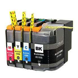 LC21E-4PK ×1 / 4色セット brother (ブラザー) 互換インク BKのみ顔料他は染料 【対応インク型番】 LC21EBK LC21EC LC21EM LC21EY