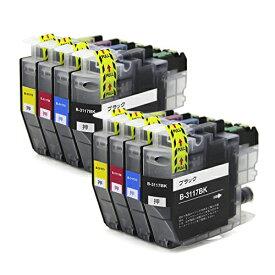 LC3117-4PK ×2 / 4色セット brother (ブラザー) 互換インク 全色染料 【対応インク型番】 LC3117BK LC3117C LC3117M LC3117Y