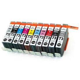 PGI-73/10MP ×1 / 10色セット CANON (キャノン) 互換インク 全色染料 【対応インク型番】 PGI-73MBK PGI-73PBK PGI-73C PGI-73M PGI-73Y PGI-73PC PGI-73PM PGI-73GY PGI-73R PGI-73CO