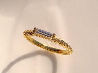 你可以选择 K18 黄金针桶钻石戒指石头! 太美丽 5 mil 长! 18 K 18 k YG WG PG 黄色白色黄金 18kt 粉色黄金礼品赠品