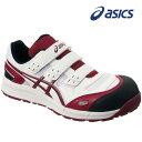 【アシックス】安全靴 ウィンジョブ CP102 ホワイト×バーガンディ FCP102-0126