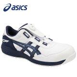 アシックス1271A029-102安全靴ウィンジョブCP209Boaホワイト×ピーコート