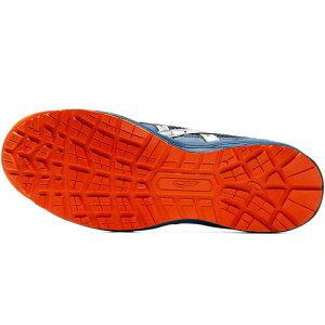 アシックス1273A006-400安全靴ウィンジョブCP210マコブルー×シルバー