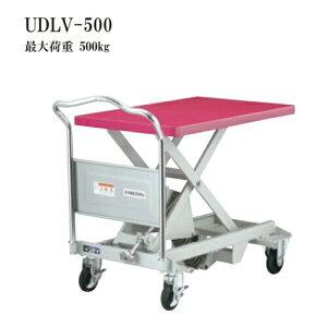 花岡車両 UDLV-500 ダンディレベラー スチール製レベラー台車 最大荷重500kg 腰痛対策機器