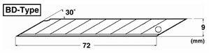 NTカッター BD-50P デザインナイフ用替刃 50枚入