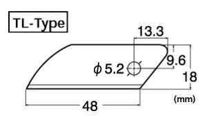 NTカッター BTL-3P 厚物切り作業用カッター替刃 スペシャルブレード(超硬刃) 1枚入