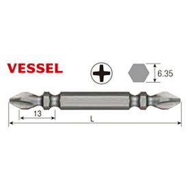 ベッセル VESSEL M-S14(+)2×65H サキスボビット(10本袋入)木ネジ用 六角軸6.35