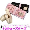 バレエ キッズ トウシューズケース(FairyToe) ピンク/ブラック
