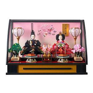 雛人形 ケース飾り ひな人形 コンパクト 可愛い ミニ 彩花三五親王飾 アクリルケース