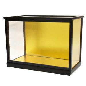 人形ケース ガラス人形ケース ガラスケース 雛人形ケース 五月人形ケース 戸付 ダルマ1号黒桑 幅 間口40奥行20高27cm(ガラス寸法)内計り
