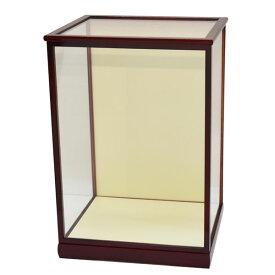 人形ケース ガラス人形ケース ガラスケース 雛人形ケース 五月人形ケース 戸付 GF18エンジ 幅 間口40奥行35高55cm(ガラス寸法)内計り