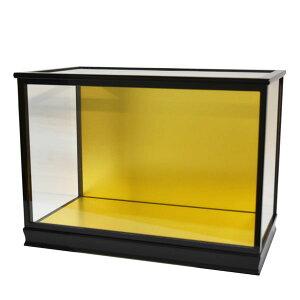 人形ケース ガラス人形ケース ガラスケース 雛人形ケース 五月人形ケース 戸付 木目込14黒 幅 間口55奥行30高35cm(ガラス寸法)内計り