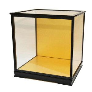 人形ケース ガラス人形ケース ガラスケース 雛人形ケース 五月人形ケース 戸付 スワリ33 黒 幅 間口45奥行35高45cm(ガラス寸法)内計り