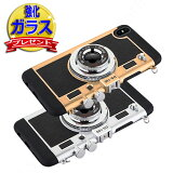 [強化ガラス保護フィルム付き]iPhoneXケース韓国カメラ型iphone8ケースiPhone8PlusケースiPhone7ケースカバーiPhone7PlusiPhone6iphone6splusケースiphoneXアイフォン7プラスシリコンブランドキャラクターおしゃれストラップ付耐衝撃zz