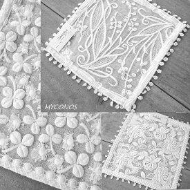 退縮 御礼 今治発タオルの糸で描かれた花デザイン『ガーゼタオル』幸せのモチーフのクローバー ご出産 ご結婚御祝い 引き出物 内祝いに タオルハンカチ ミニ 日本製 今治製雑貨