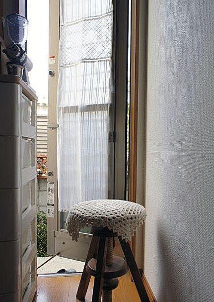 送料無料 ★『パネルカーテン』細窓 勝手口 のカーテンに! 2枚 3枚とつなげは、間仕切りのれん。オフホワイトのおしゃれでお手頃価格。【RCP】P06Dec14【HLS_DU】