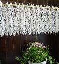 送料無料【約120x30cm】真っ白『カフェカーテン』ヨーロッパの窓を思わす ギュピュールレース 綺麗です ベリーショート 小窓用【HLS_DU】