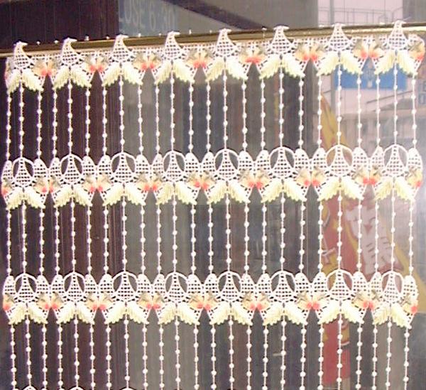 【送料無料】【縦45cm】 フランス製 イチゴのマクラメ 『カフェカーテン』 Sサイズ★【smtb-k】【kb】yo【RCP】小窓用【HLS_DU】