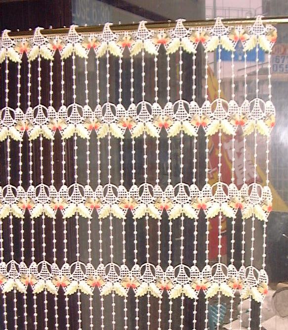 【送料無料】【縦60cm】 フランス製 人気イチゴのマクラメ 『カフェカーテン』 セミロング★【smtb-k】【kb】yo【RCP】小窓用