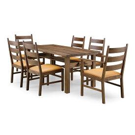 35%OFF [7点セット] GREEN home style ROSE MARY DINING TABLE 150 + ARM CHAIR B + SIDE CHAIR B (グリーン ローズマリー ダイニングテーブル 150 アームチェア B サイドチェア B) 岩倉 榮利 (ウォールナット材)【同梱不可】